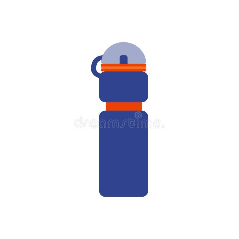 Illustration de vecteur Bouteille plate pour l'icône de l'eau illustration libre de droits