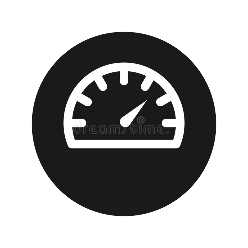 Illustration de vecteur de bouton de rond de noir mat d'icône de mesure de tachymètre illustration libre de droits