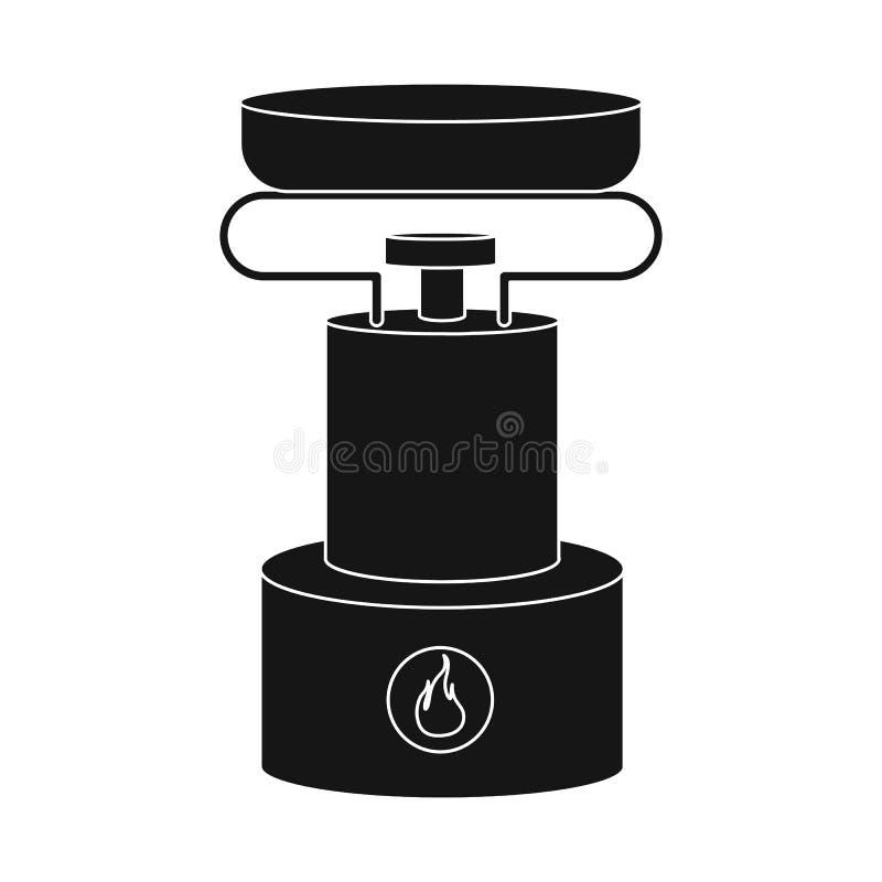 Illustration de vecteur de brûleur et de logo de survie Placez de l'icône de vecteur de brûleur et de gaz pour des actions illustration de vecteur