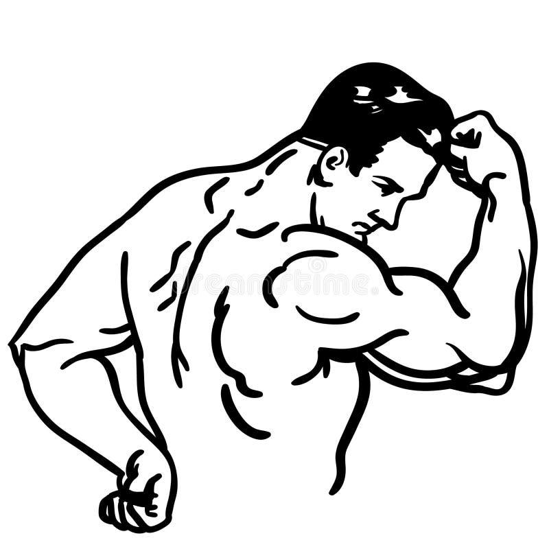 Illustration de vecteur de c?ble de bras fort par des crafteroks illustration libre de droits