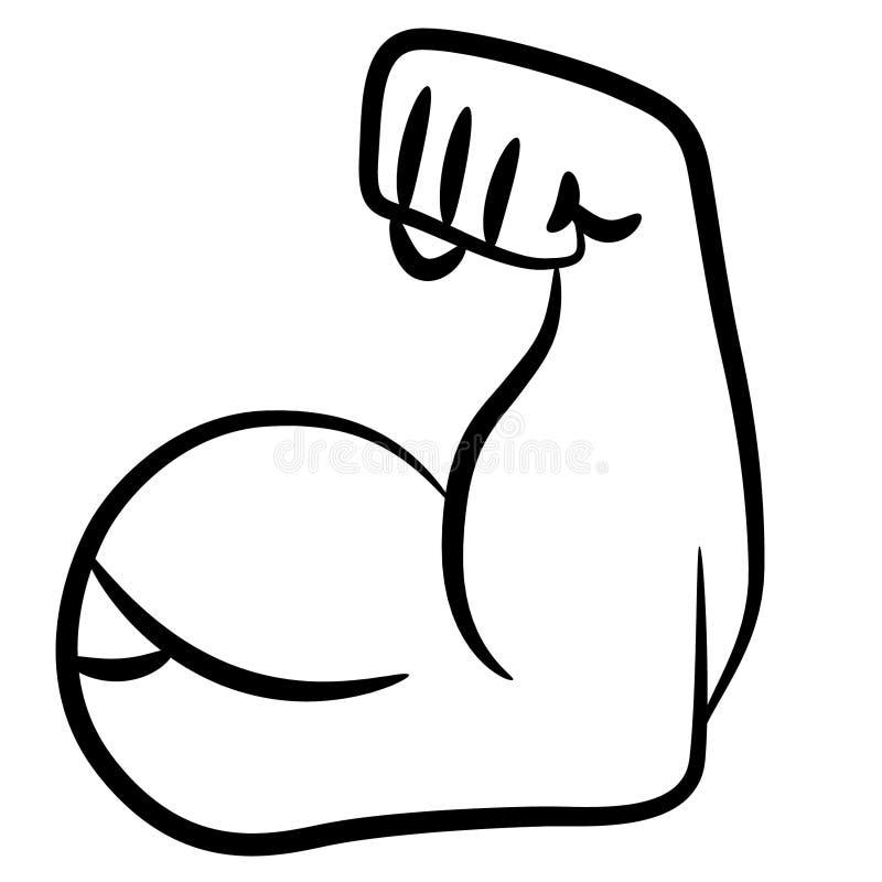Illustration de vecteur de c?ble de bras fort par des crafteroks illustration de vecteur