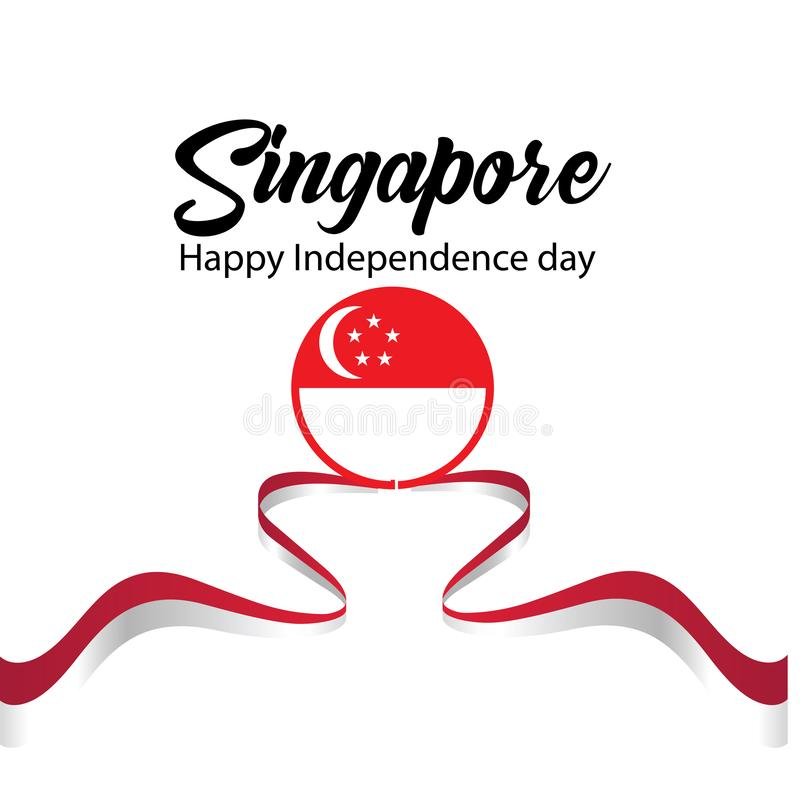 Illustration de vecteur de c?l?bration de Jour de la D?claration d'Ind?pendance de Singapour illustration libre de droits