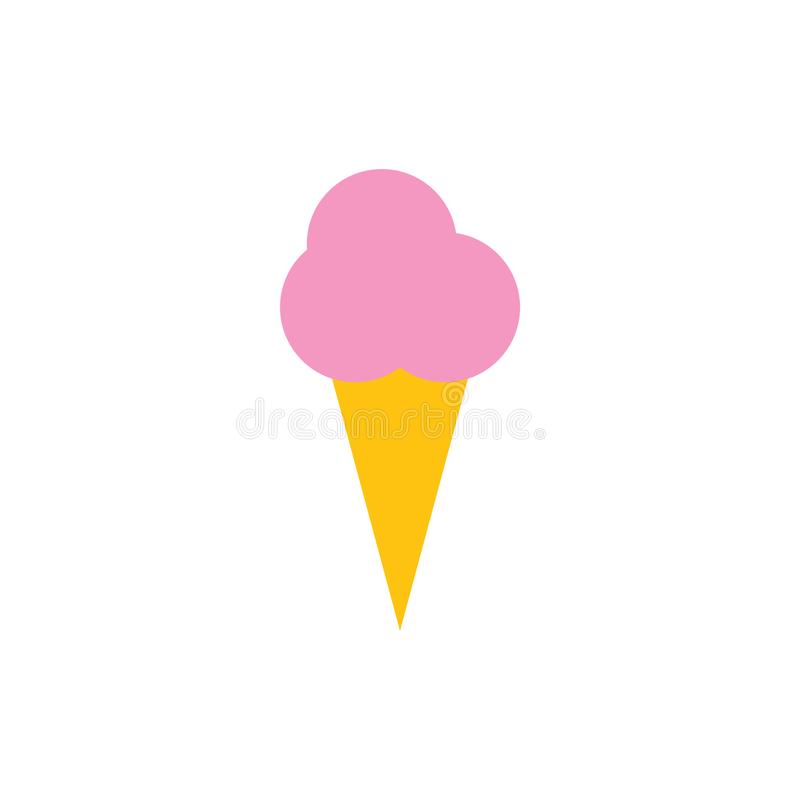 Illustration de vecteur de calibre de conception graphique d'icône de cornet de crème glacée illustration libre de droits
