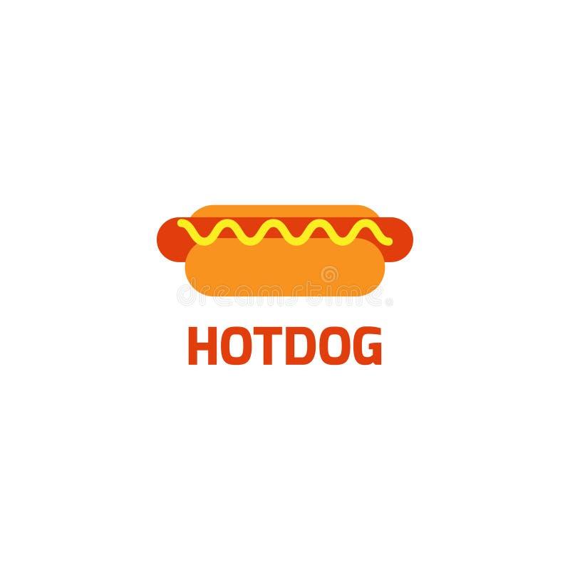 Illustration de vecteur de calibre de conception graphique de logo de hot dog illustration de vecteur