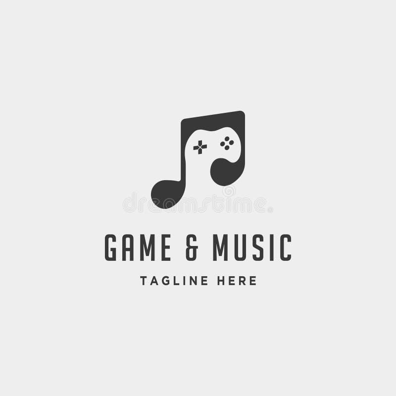 illustration de vecteur de calibre de conception de logo de jeu de musique illustration de vecteur