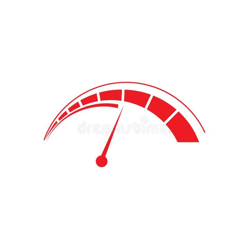 Illustration de vecteur de calibre de conception de logo de tachymètre illustration stock