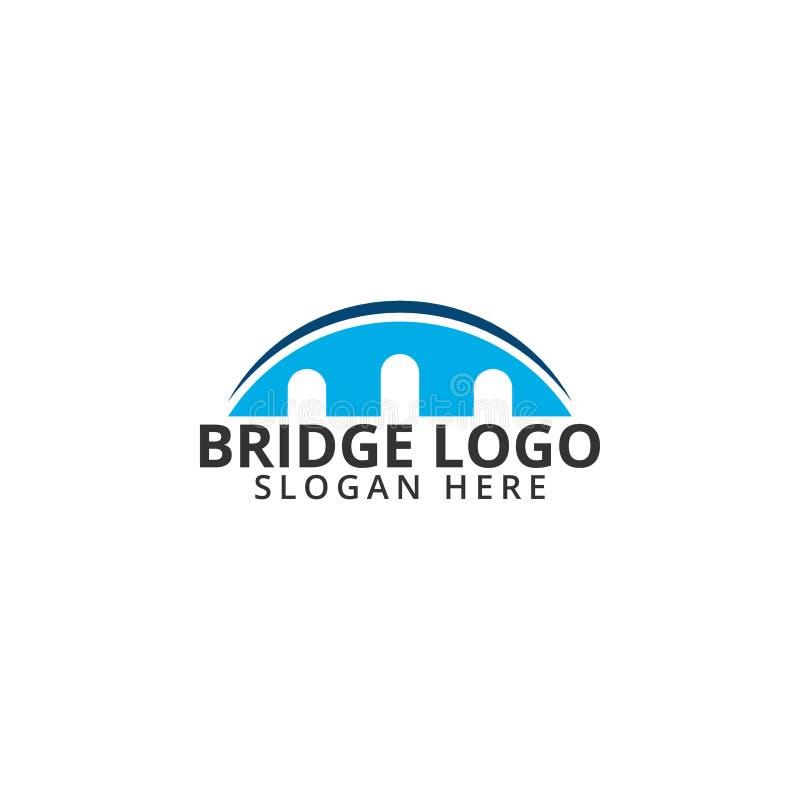 Illustration de vecteur de calibre d'icône de logo de pont illustration stock