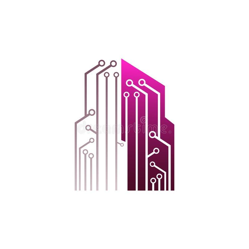 Illustration de vecteur de calibre de logo d'affaires de concept Futur techn illustration stock