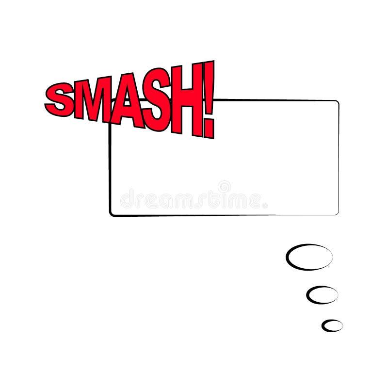 Illustration de vecteur Calibre de vue dans le style comique d'art de bruit d'isolement sur le fond blanc Discours comique de bul illustration stock