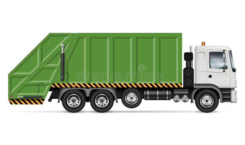 Illustration de vecteur de camion à ordures illustration libre de droits
