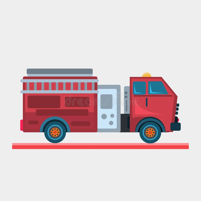 Illustration de vecteur de camion de pompiers illustration stock