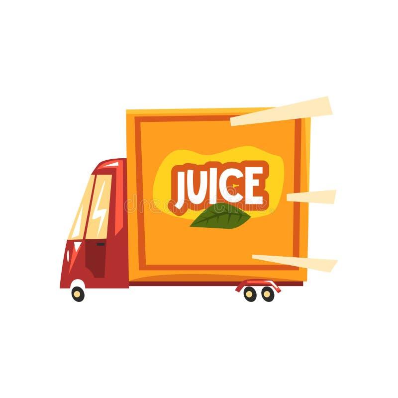 Illustration de vecteur de camion de service de distribution de jus sur un fond blanc illustration libre de droits