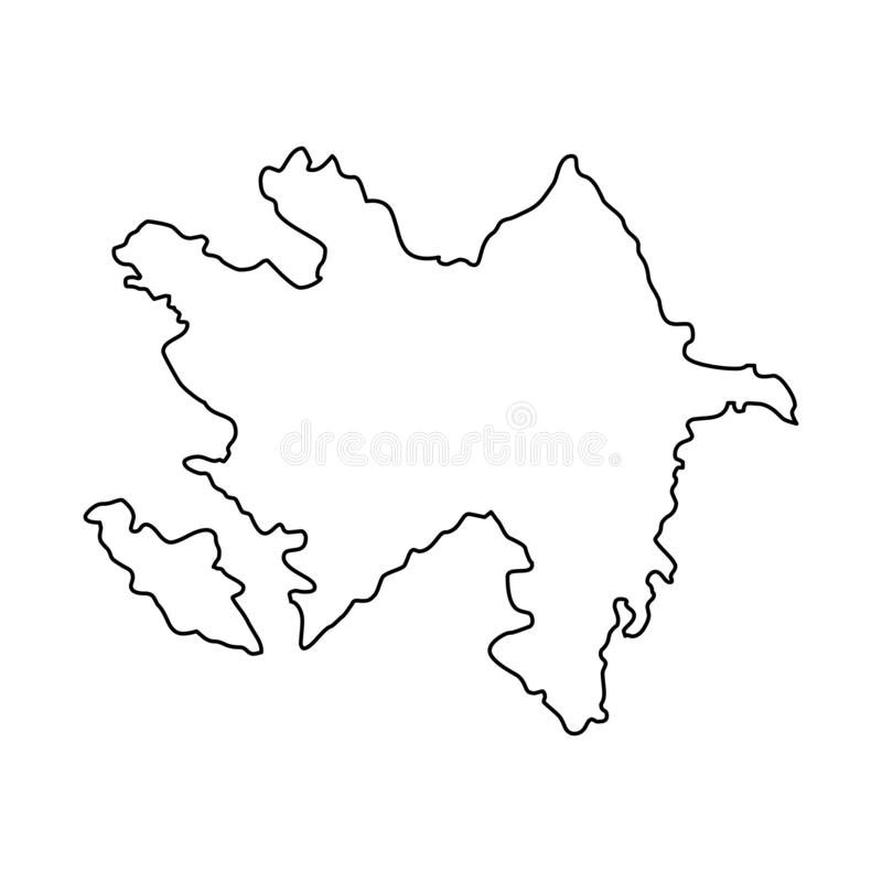 Illustration de vecteur de carte d'ensemble de l'Azerbaïdjan illustration stock