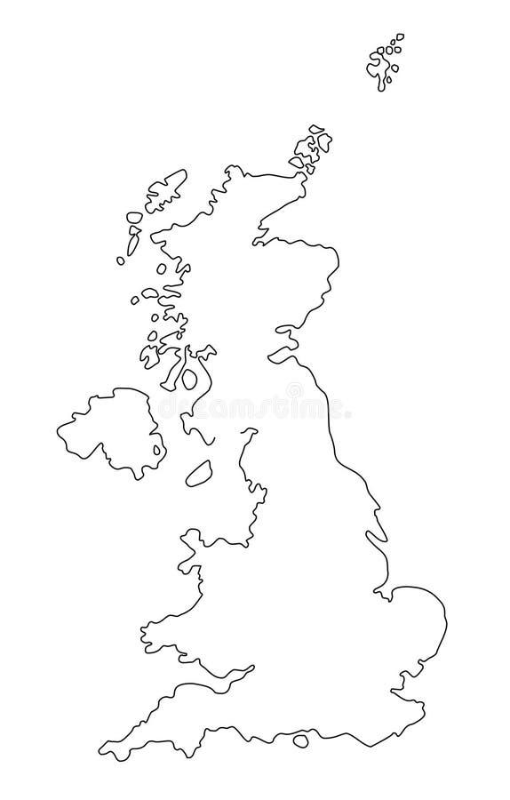 Illustration de vecteur de carte d'ensemble de la Grande-Bretagne illustration libre de droits