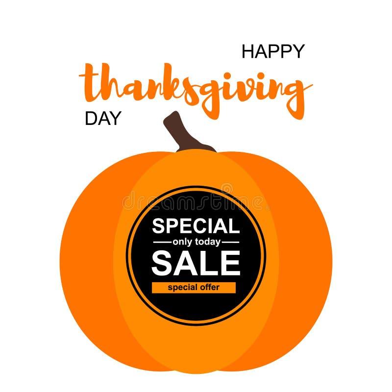 Illustration de vecteur Carte heureuse de jour de thanksgiving illustration stock