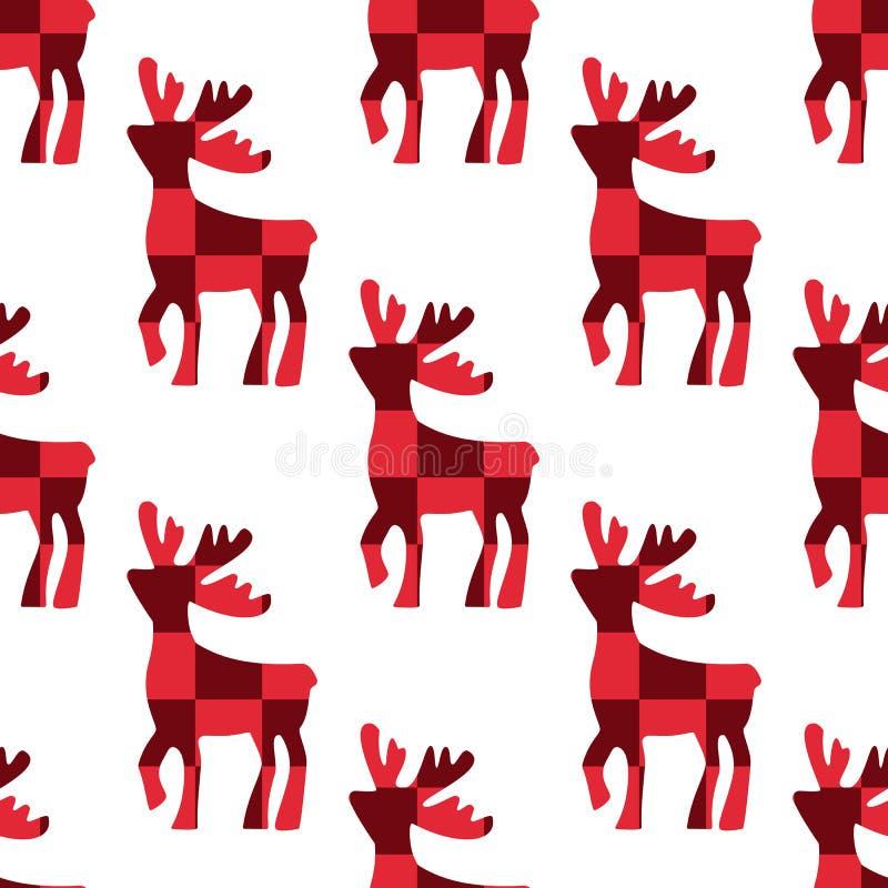 Illustration de vecteur de cerfs communs Icône rouge de silhouette de modèle de cube en cerfs communs sur le fond blanc Configura illustration stock