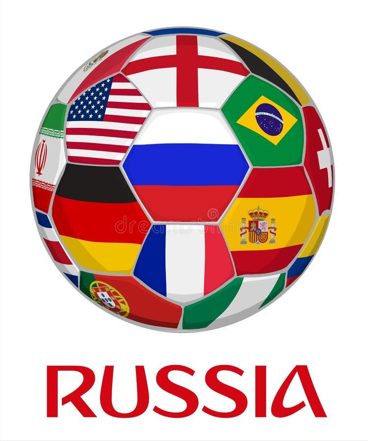 Illustration de vecteur de championnat du football de la Russie illustration de vecteur
