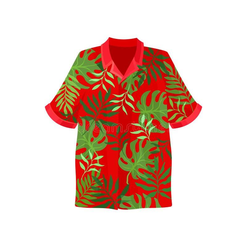 Illustration de vecteur de chemise de Hawaïen aloha sur un fond blanc illustration libre de droits