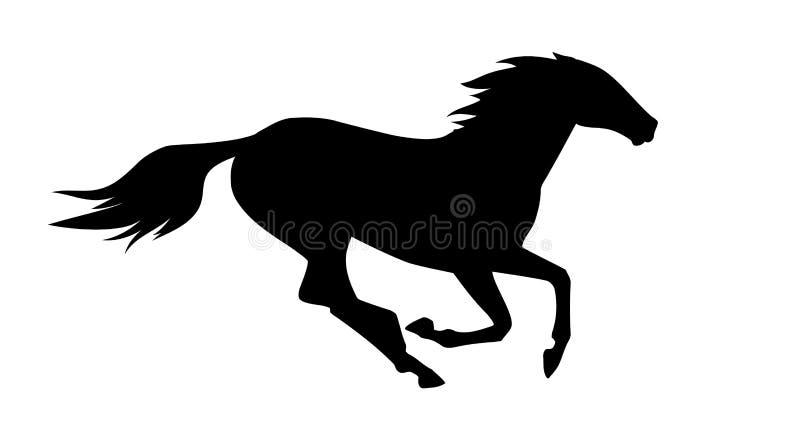 Illustration de vecteur de cheval courant illustration libre de droits