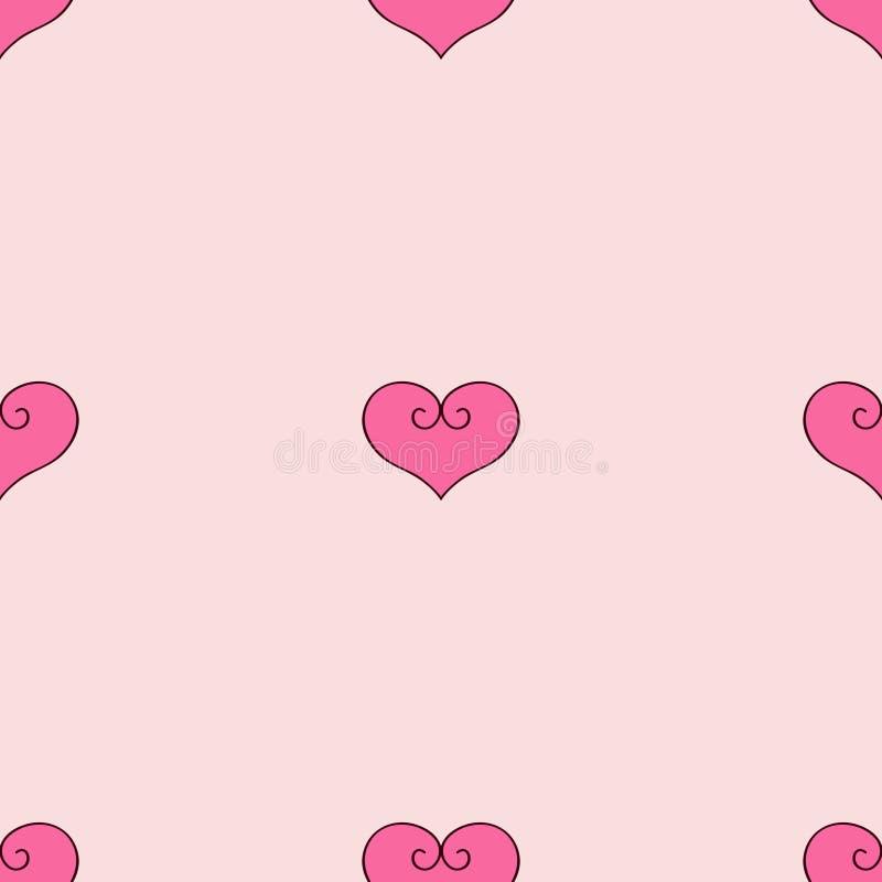 Illustration de vecteur de coeur rose ? scrapbooking peu disposé illustration libre de droits