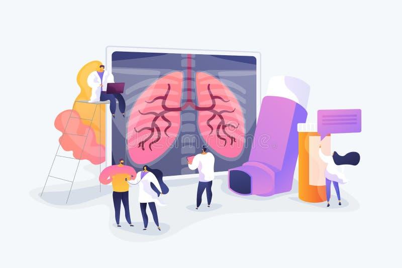 Illustration de vecteur de concept de bronchopneumopathie chronique obstructive illustration libre de droits