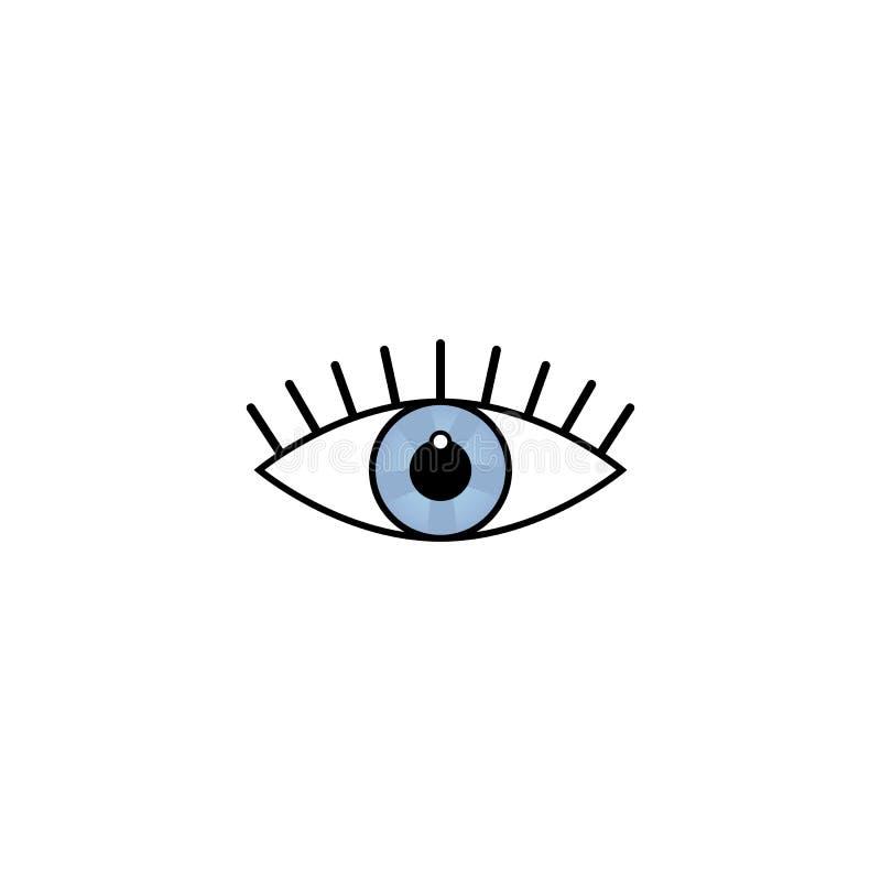 Illustration de vecteur de concept de construction de beauté de soin de symbole de signe d'icône d'oeil sur le fond blanc illustration stock