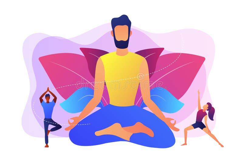 Illustration de vecteur de concept d'école de yoga illustration de vecteur