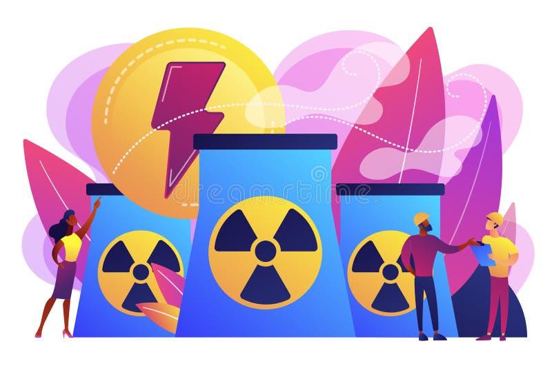 Illustration de vecteur de concept d'énergie nucléaire illustration stock