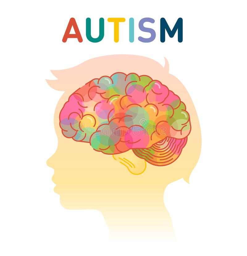 Illustration de vecteur de concept d'autisme illustration de vecteur