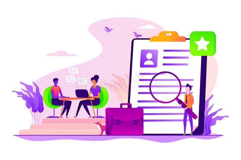 Illustration de vecteur de concept d'entrevue d'emploi illustration libre de droits