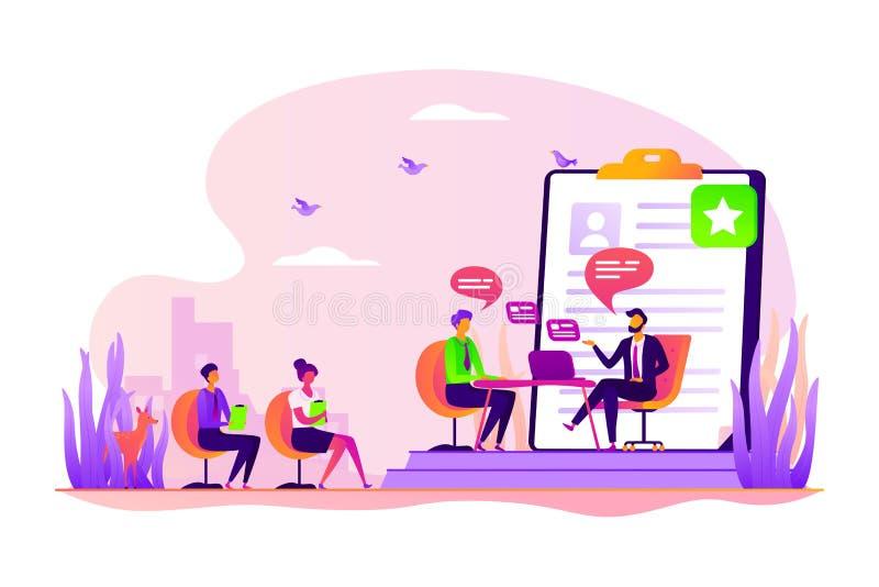 Illustration de vecteur de concept d'entrevue d'emploi illustration stock
