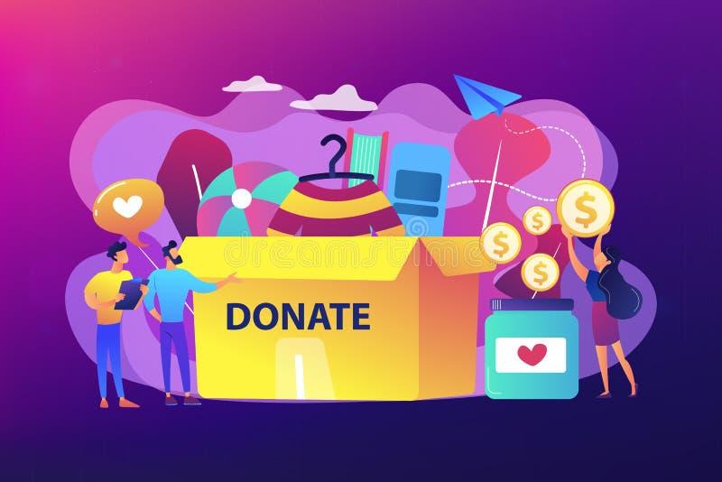 Illustration de vecteur de concept de donation illustration stock