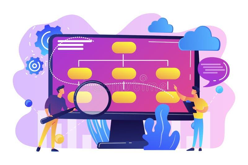 Illustration de vecteur de concept de modèle économique conduite par données illustration de vecteur