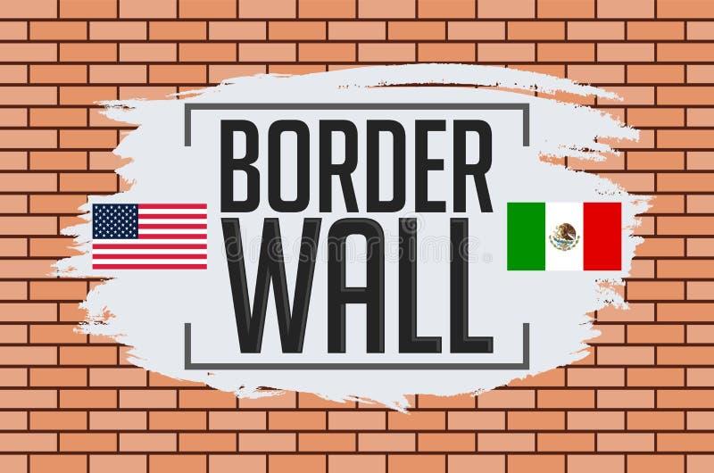 Illustration de vecteur de concept de mur de frontière illustration de vecteur