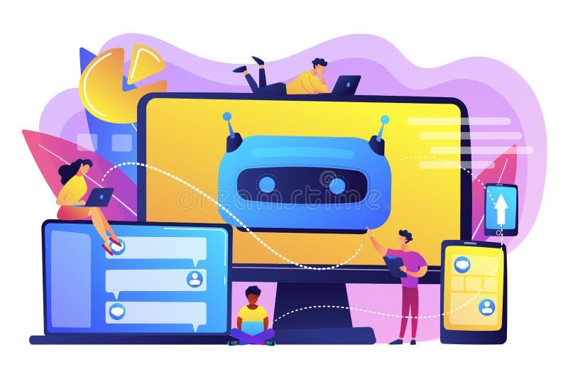 Illustration de vecteur de concept de plate-forme de développement de Chatbot illustration de vecteur