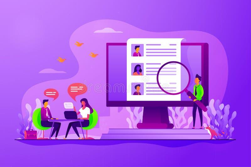 Illustration de vecteur de concept de ressources humaines illustration de vecteur