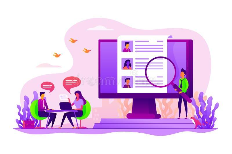 Illustration de vecteur de concept de ressources humaines illustration stock