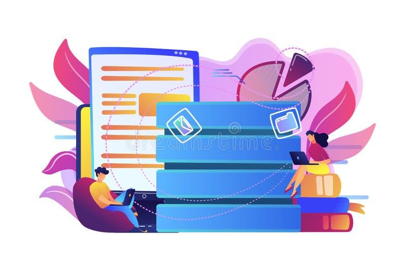 Illustration de vecteur de concept de saisie de données illustration de vecteur
