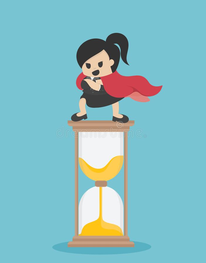 Illustration de vecteur de concept, support superbe de femme d'affaires sur le h illustration de vecteur