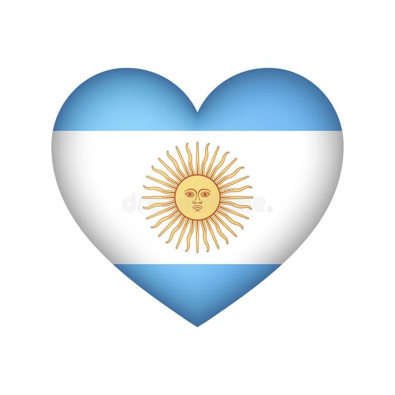 Illustration de vecteur de conception de coeur de drapeau de l'Argentine illustration libre de droits
