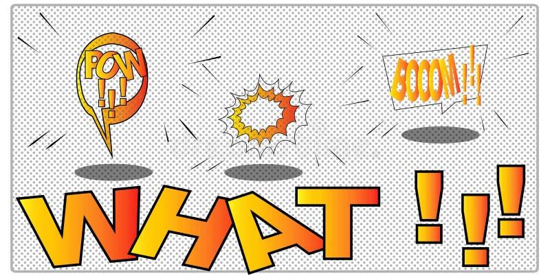 Illustration de vecteur conception comique de collection de cadre dans le style d'art de bruit Graphiques couleur pour des brochu images stock