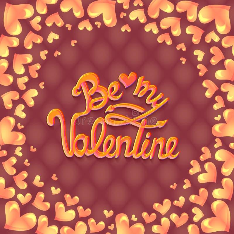 Illustration de vecteur Conception d'affiche de partie de jour de valentines Calibre d'invitation, d'insecte, d'affiche ou de car illustration stock