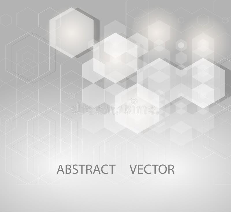 Illustration de vecteur de conception de la science abstraite de fond d'hexagones illustration libre de droits