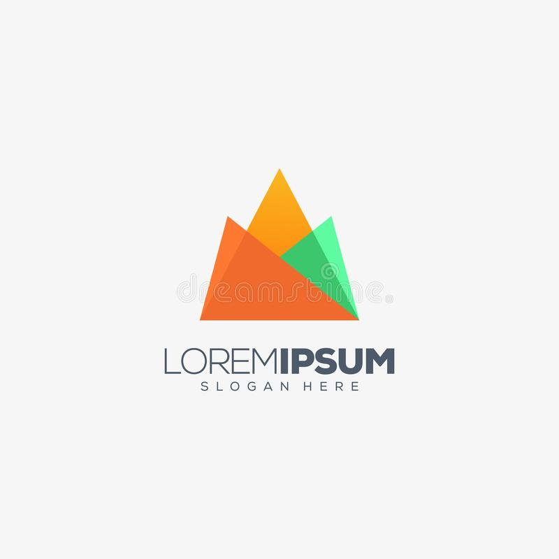 Illustration de vecteur de conception de logo d'origami de montagne illustration libre de droits