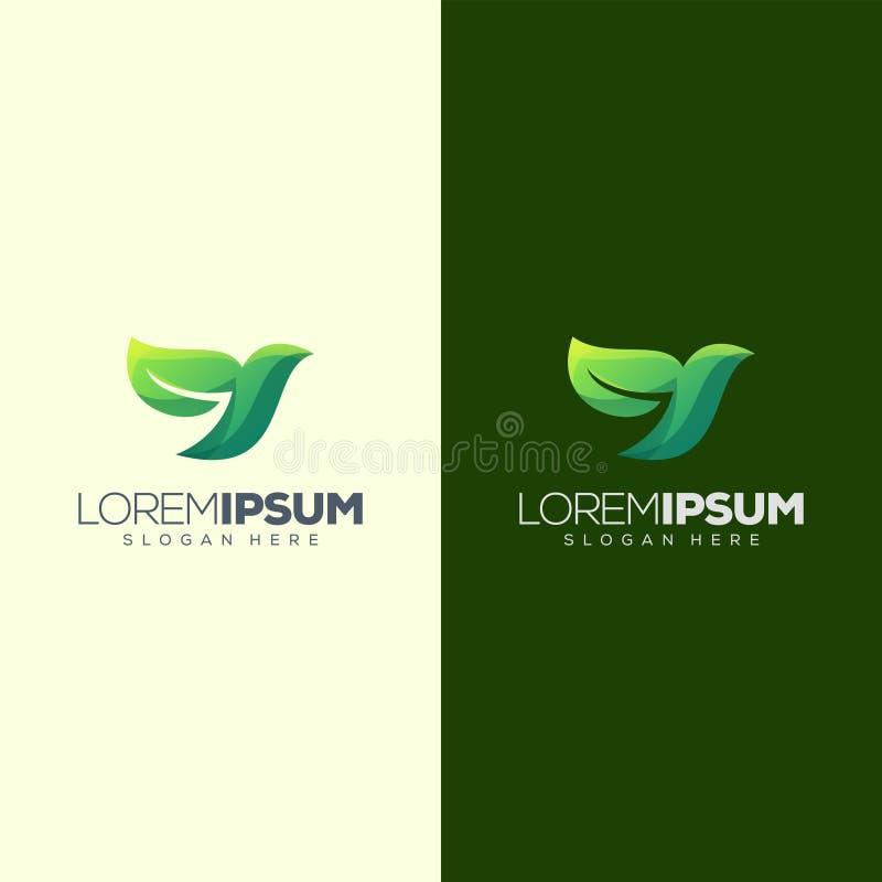 Illustration de vecteur de conception de logo de feuille d'oiseau illustration de vecteur