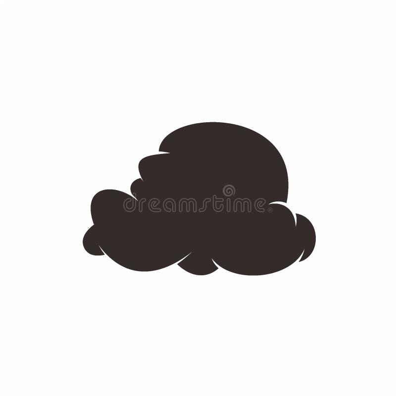 Illustration de vecteur de conception de nuage de silhouette illustration libre de droits