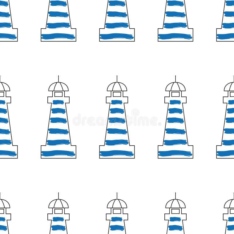 Illustration de vecteur de conception de phare Modèle sans couture de phare illustration de vecteur