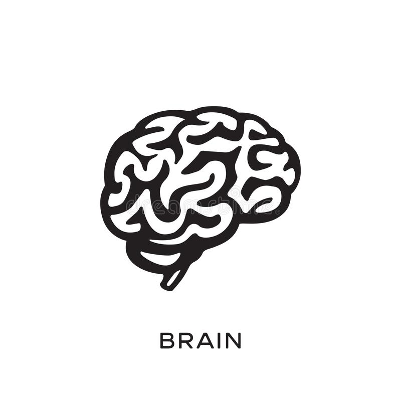 Illustration de vecteur de conception de silhouette d'esprit humain Pensez le concept d'idée brainstorm illustration libre de droits