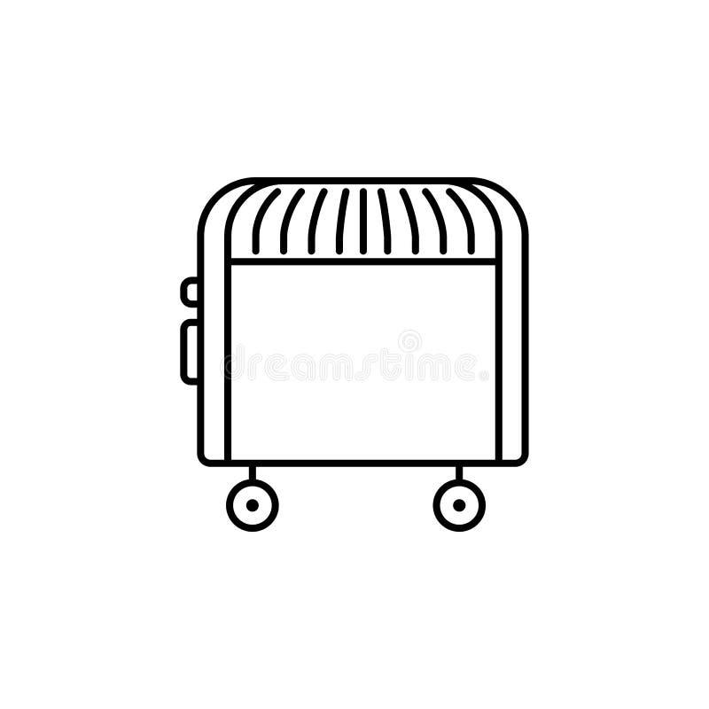 Illustration de vecteur de convecteur électrique Ligne icône de portable illustration de vecteur