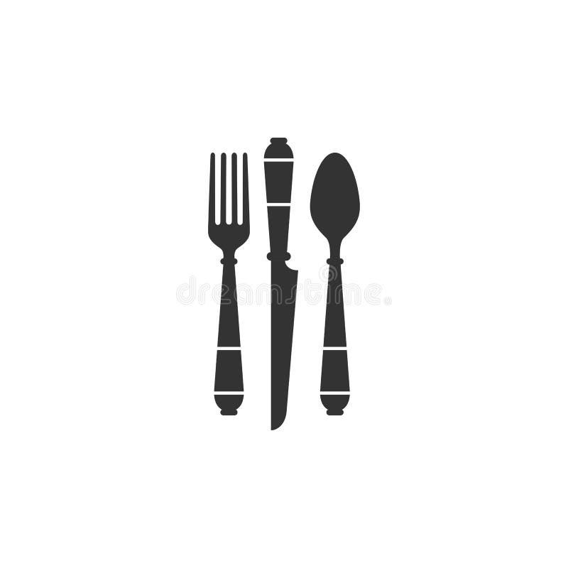 Illustration de vecteur de couteau de fourchette de cuillère illustration de vecteur